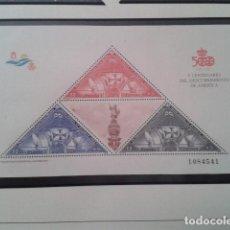 Timbres: ESPAÑA 1992. V CENTENARIO DEL DESCUBRIMIENTO DE AMÉRICA. EDIFIL HOJITA 3163. NUEVO. Lote 197509040