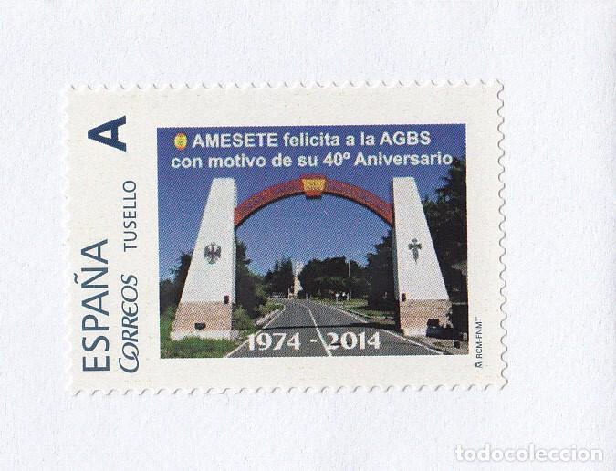 Sellos: TUSELLO - CARTA DE AMESETE AMIGOS MUSEO SUBOFICIAL EJERCITO ESPAÑOL 2014 - Foto 2 - 197571948