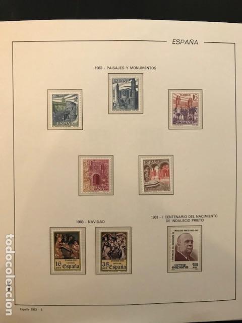 ESPAÑA AÑO 1983 COMPLETO CON SUPLEMENTO HOJAS FILABO Y FILOESTUCHES TRANSPARENTES HFS80 (Sellos - España - Juan Carlos I - Desde 1.975 a 1.985 - Nuevos)