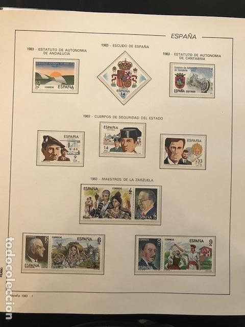 Sellos: España año 1983 completo con suplemento hojas Filabo Y filoestuches transparentes HFS80 - Foto 3 - 197664150