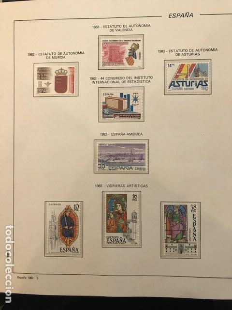 Sellos: España año 1983 completo con suplemento hojas Filabo Y filoestuches transparentes HFS80 - Foto 6 - 197664150
