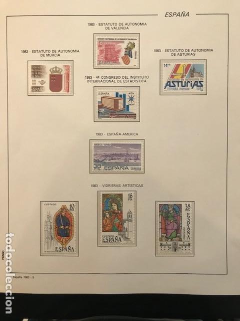 Sellos: España año 1983 completo con suplemento hojas Filabo Y filoestuches transparentes HFS80 - Foto 7 - 197664150
