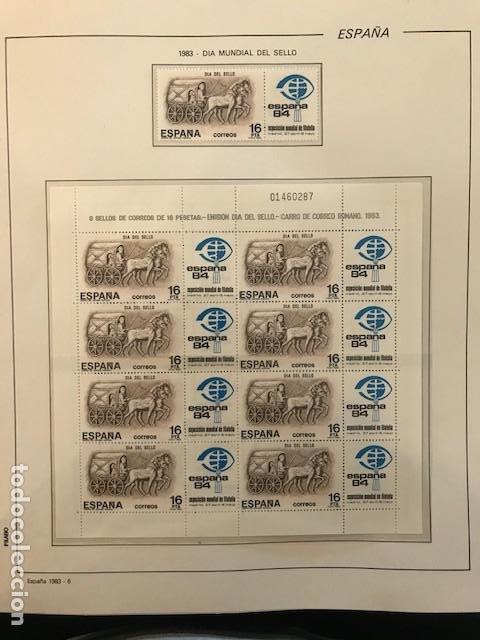 Sellos: España año 1983 completo con suplemento hojas Filabo Y filoestuches transparentes HFS80 - Foto 8 - 197664150