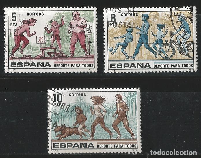 ESPAÑA 1979 - DEPORTES PARA TODOS (Sellos - España - Juan Carlos I - Desde 1.975 a 1.985 - Usados)