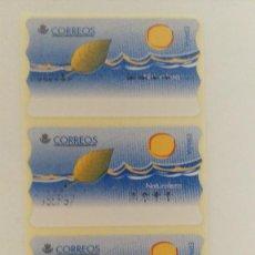 Sellos: TIRA DE 4 ATM DE AJUSTE MOBA EN PTS DE NATURALEZA (DESPLAZADOS Y CON FALLO DE IMPRESION). Lote 197701301