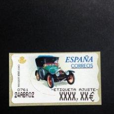 Sellos: ESPAÑA.AÑO 2001.ATMS./COCHE DE ÉPOCA.. Lote 197761660