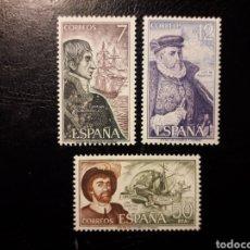 Selos: ESPAÑA. EDIFIL 2308/10. SERIE COMPLETA NUEVA ***. NAVEGANTES. BARCOS 1976. EL DE LA FOTO O SIMILAR.. Lote 197803888