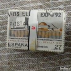 Sellos: PASTILLA DE 100 SELLOS SEVILLA 92. Lote 198128255