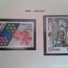 Francobolli: ESPAÑA 1988. EDIFIL 2976, 2977. NAVIDAD. NUEVO. Lote 198181597