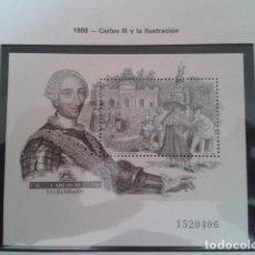 Timbres: ESPAÑA 1988. EDIFIL 2984. CARLOS III Y LA ILUSTRACIÓN. NUEVO. Lote 198182295