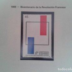 Francobolli: ESPAÑA 1989. EDIFIL 2988. BICENTENARIO REVOLUCION FRANCESA. NUEVO. Lote 198183043