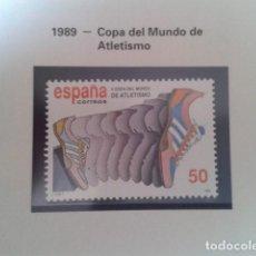 Francobolli: ESPAÑA 1989. EDIFIL 3023. COPA DEL MUNDO DE ATLETISMO. NUEVO. Lote 198188256