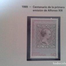 Francobolli: ESPAÑA 1989. EDIFIL 3024. NUEVO. CENTENARIO EMISION ALFONSO XIII. NUEVO. Lote 198188861