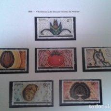 Timbres: ESPAÑA 1989. V CENTENARIO DEL DESCUBRIMIENTO DE AMÉRICA. EDIFIL 3029/34. NUEVO. Lote 198190135