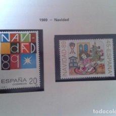 Francobolli: ESPAÑA 1989. ESPAÑA EDIFIL 3036, 3037. NAVIDAD. NUEVO. Lote 198192130