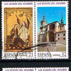Sellos: EDIFIL Nº 3494, LAS EDADES DEL HOMBRE EN SORIA, USADO (SERIE COMPLETA). Lote 198240030