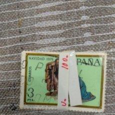Sellos: PASTILLAS DE 100 SELLOS NAVIDAD 76. Lote 198256981
