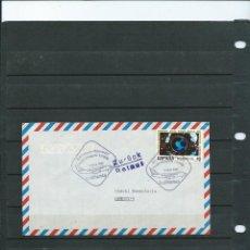 Sellos: SOBRE DEL 1 VUELO DE LA COMPAÑIA LUFTHANSA DEL VUELO BARCELONA-HANOVER DEL AÑO 1991 CON MATASELLO DE. Lote 198537532