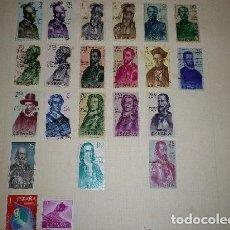 Sellos: ESPAÑA - LOTE DE 22 SELLOS USADOS. Lote 198573826