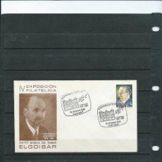 Sellos: SOBRE CON MATASELLO ESPECIAL DE LA EXPOSICION FILATELICA DE ELGOIBAR IDEFONSO Mª LIZZARRITURRI 1984. Lote 198590486
