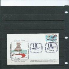 Francobolli: SOBRE CON MATASELLO ESPECIAL DE LA EXPOSICION FILATELICA DE VITORIA TORRE DE CONTROL DEL AEROPUERTO. Lote 198590766