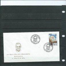 Sellos: SOBRE CON MATASELLO ESPECIAL DE LA EXPOSICION FILT DEL CURA Y MUSICO EUSTAKIO AZKARATE 1987. Lote 198598786