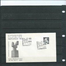 Sellos: SOBRE CON MATASELLO ESPECIAL EXPO. FILT. DEDICADA A ALEXANDER FLEMING EN SAN SEBASTIAN DEL AÑO 1989. Lote 198600717