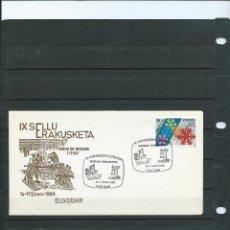 Sellos: SOBRE CON MATASELLO ESPECIAL EXPO. FILT. DE ELGOIBAR A LA MAQUINA HERRAMIENTA DEL AÑO 1989. Lote 198601106