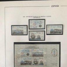 Sellos: SELLOS ESPAÑA 1987 AÑO COMPLETO CON HOJAS FILABO MONTADAS EN FILOESTUCHE TRANSPARENTE HFS80 1987T. Lote 198748457