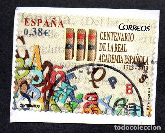 SELLO USADO ESPAÑA 2014 EDIFIL 4847 III CENTENARIO DE LA REAL ACADEMIA ESPAÑOLA (Sellos - España - Juan Carlos I - Desde 2.000 - Usados)