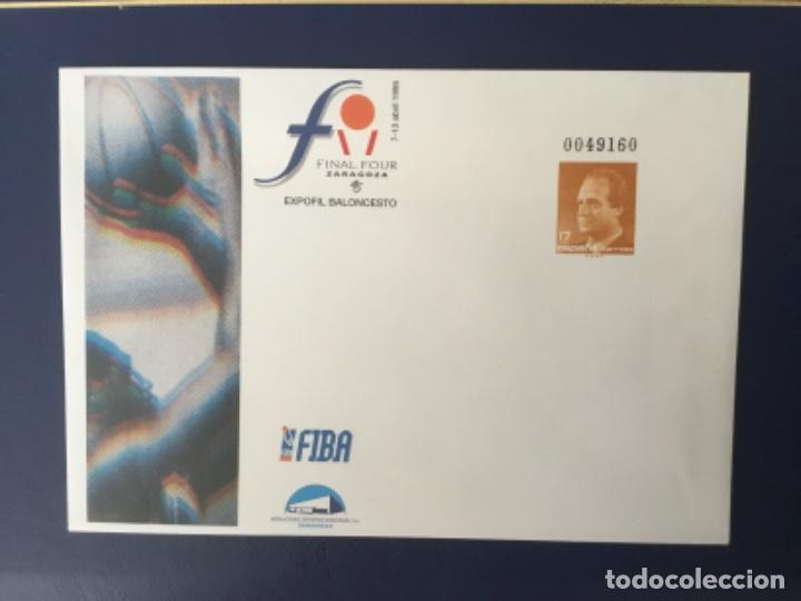 1995-ESPAÑA SOBRE ENTERO POSTAL Nº 26 EXPOFIL BALONCESTO ZARAGOZA (Sellos - España - Juan Carlos I - Desde 1.986 a 1.999 - Cartas)