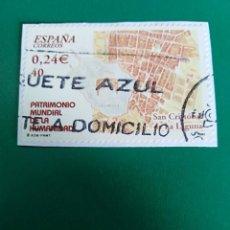 Sellos: SELLO SAN CRISTÓBAL DE LA LAGUNA PATRIMONIO MUNDIAL DE LA HUMANIDAD ESPAÑA . Lote 199140842