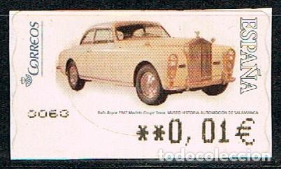 ETIQUETA DE VALOR VARIABLE Nº 115, ROLLS ROYCE 1947 (AÑO 2005), NUERVO (Sellos - España - Juan Carlos I - Desde 2.000 - Nuevos)
