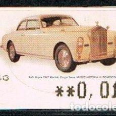 Sellos: ETIQUETA DE VALOR VARIABLE Nº 115, ROLLS ROYCE 1947 (AÑO 2005), NUERVO. Lote 199152747