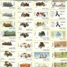 Sellos: 92 ATMS DE 6 DÍGITOS , DIFERENTES CON VALOR MINIMO , NUEVAS - ESPAÑA -ESTAMPILLAS. Lote 199240816