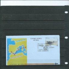 Sellos: AEROGRAMA CON MATASELLO ESPECIAL XI SEMANA DE AEROMODELISMO DE LLANERA DEL AÑO 1992. Lote 199351702