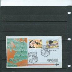 Sellos: AEROGRAMA CON MATASELLO ESPECIAL BADIA DE CALA MILLOR REGATA INTER DE GLOBOS AEROSTATICOS AÑO 1991. Lote 199351910