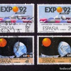 Selos: 2875-6A, SERIE EN USADO. EXPO'92.. Lote 199361105