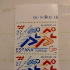 Selos: 1992 PARALIMPIADA MADRID 92. Lote 199434283