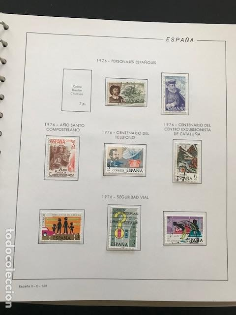Sellos: Hojas Filabo 1978 con sellos España año completo usado sin montar HFS70 - Foto 4 - 199486442