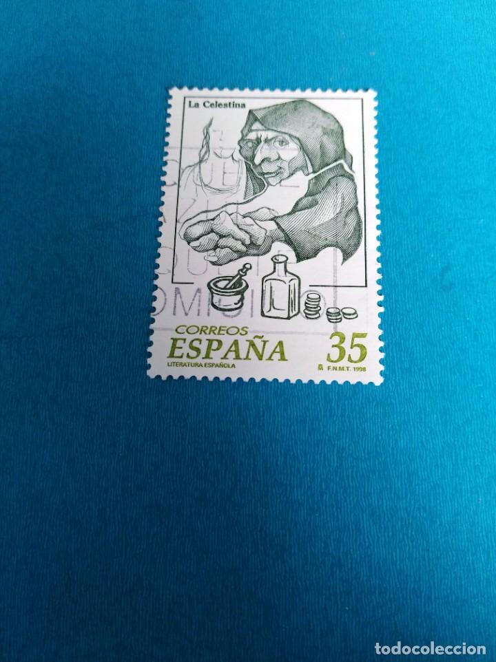 SELLO LITERATURA ESPAÑOLA LA CELESTINA ESPAÑA (Sellos - España - Juan Carlos I - Desde 1.986 a 1.999 - Usados)