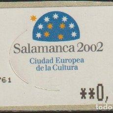 Sellos: ESPAÑA 2002 YVERT D176 SELLO ATM ** SALAMANCA CIUDAD EUROPEA DE LA CULTURA 0,50€ SPAIN STAMPS TIMBRE. Lote 199509101
