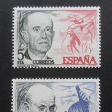 Sellos: SERIE COMPLETA 2 SELLOS NUEVOS ESPAÑA 1976 - PERSONAJES ESPAÑOLES - EDIFIL 2379/2380. Lote 199623441