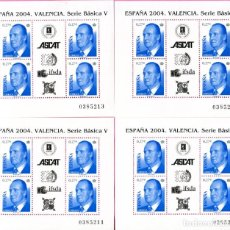 Sellos: ESPAÑA 2004 EDIFIL 4088 HOJA BLOQUE 4 SELLOS NUEVOS. VALENCIA SERIE BÁSICA V. Lote 199692590