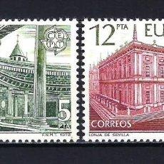 Selos: 1978 ESPAÑA - EUROPA CEPT - EDIFIL 2474/2475 - MNH** NUEVOS SIN FIJASELLOS. Lote 199979065