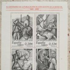 Sellos: IV CENTENARIO EL QUIJOTE 2005 - HB 4161 - NUEVA. Lote 200368572
