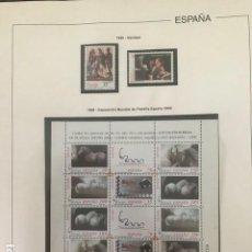 Sellos: ESPAÑA SELLOS AÑO 1999 CON HOJAS EDIFIL 1999 HES90 CONTIENE HOJA CABALLOS Y PAISES DEL EURO. Lote 200571632