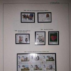 Sellos: ESPAÑA SELLOS AÑO 1998 COMPLETO CON HOJAS EDIFIL EN NEGRO MP EPISTOLAR Y MEDIA CABALLOS HES90. Lote 200577965