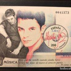 Sellos: HB 2000, HOJA BLOQUE, NUEVO, MUSICA, ALEJANDRO SANZ. Lote 201110602
