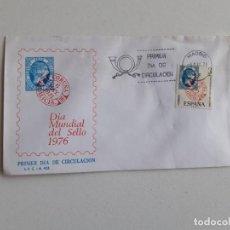 Sellos: 1976 PRIMER DIA DE CIRCULACIÓN, DIA MUNDIAL DEL SELLO. Lote 201174598
